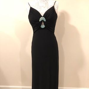 Black long formal gown.